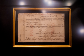 The original wire transfer from Cyrus McCormick in 1909