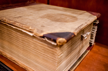 The original lodging ledger book from guest staying in the 4th floor rooms.