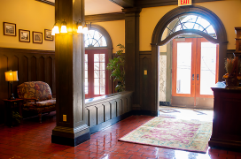 The restored foyer of the building