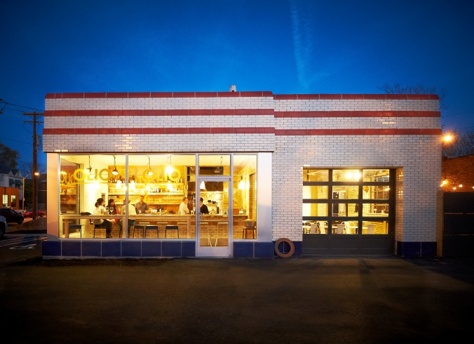 Olio Restaurant Exterior; Saint Louis, Mo., owned by Chef Ben Poremba