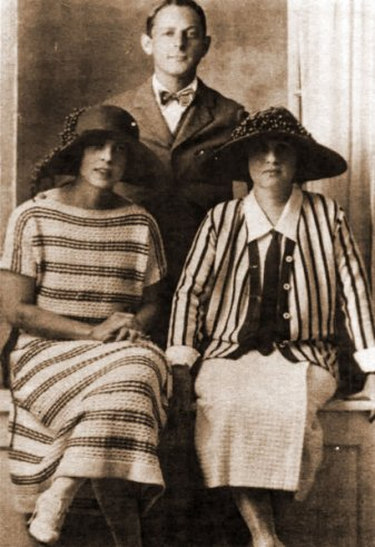 Left to right: Irma Schiffman, Lawrence Bernstein Goldsmith Sr. and Annie Schiffman Goldsmith