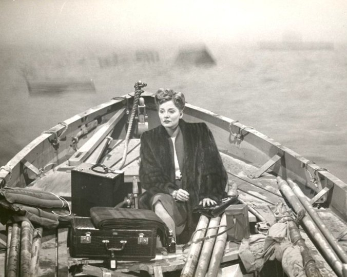 "A still from her famous role in Alfred Hitchcock's ""Lifeboat"" in 1944"