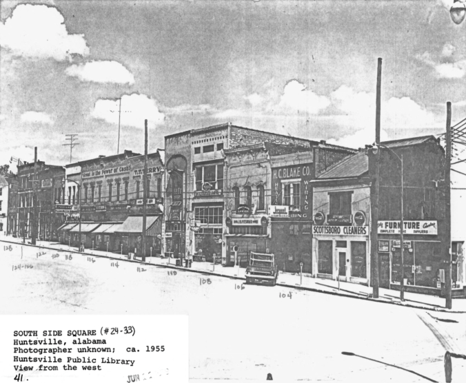 South Side Square circa 1955